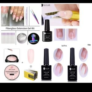 10Quick Nail Builder Fiberglass+UV gel+Tools